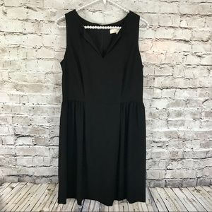 Ann Taylor Loft Black Fit & Flare Dress Size 4